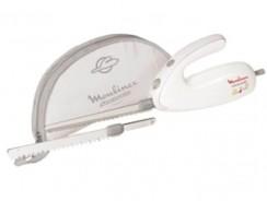 Le couteau électrique Moulinex DJAC41, polyvalent et ergonomique.
